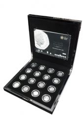 2009 12 x Silver Proof 50p Collection